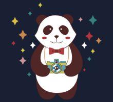 Cute Panda Photographer  One Piece - Short Sleeve
