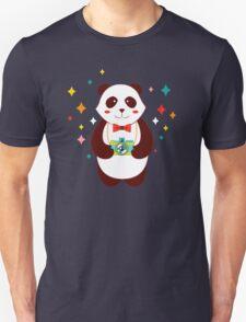 Cute Panda Photographer  Unisex T-Shirt