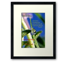Tender Grass Framed Print