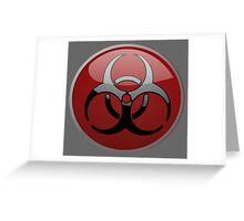 ZOMBIE APOCALYPSE HAZMAT by Zombie Ghetto Greeting Card