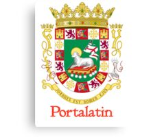 Portalatin Shield of Puerto Rico Canvas Print