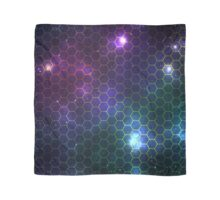 Hexagon pattern space effect Scarf