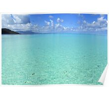 Calm View - Le Tahaa Coral Reef Poster