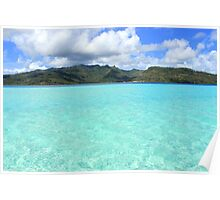 Tropical Mountain View - Le Tahaa Coral Reef Poster