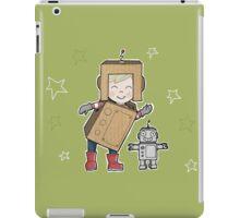 Cardboard Kid Robot (Little Stars Collection) iPad Case/Skin