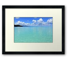 Lost in Tropical Space - Le Tahaa Coral Reef Framed Print