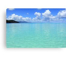 Lost in Tropical Space - Le Tahaa Coral Reef Canvas Print
