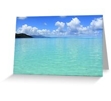 Lost in Tropical Space - Le Tahaa Coral Reef Greeting Card