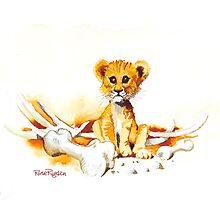 Lion cub by RoseRigden