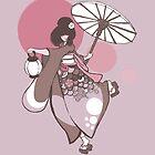 Lovely Kimono Maiden by BrownEyedEnigma