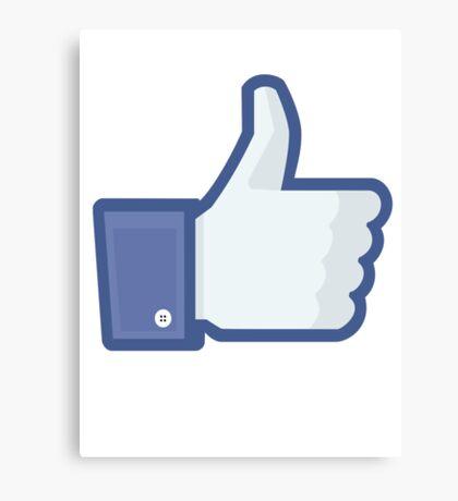 Facebook 'like' button Canvas Print