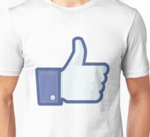 Facebook 'like' button Unisex T-Shirt