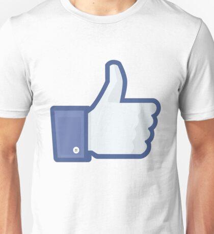 Facebook 'like' button Unisex T-Shirt
