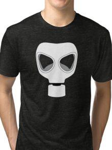 ZOMBIE APOCALYPSE GASMARK by Zombie Ghetto Tri-blend T-Shirt