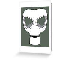 ZOMBIE APOCALYPSE GASMARK by Zombie Ghetto Greeting Card