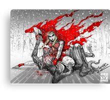 Red Knee-Ride Hood Canvas Print