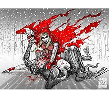 Red Knee-Ride Hood Photographic Print