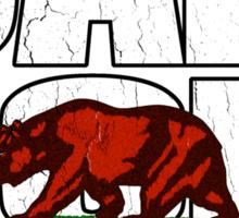 California Republic (vintage distressed look) Sticker