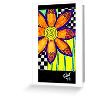 Eight Bright Petals Greeting Card