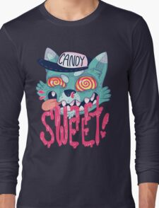 candy cat (green + pink) Long Sleeve T-Shirt
