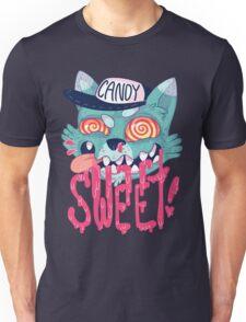 candy cat (green + pink) Unisex T-Shirt