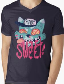 candy cat (green + pink) Mens V-Neck T-Shirt