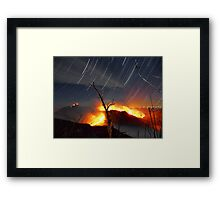 The Table Rock Wildfire Star Trail Framed Print