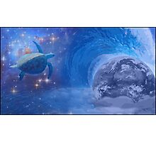 Abstract Cosmic Seaturtle Photographic Print