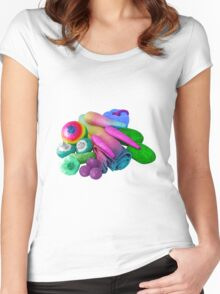 Multicolour Vegetable Selection Women's Fitted Scoop T-Shirt
