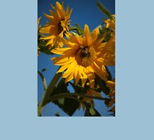 Sunflower And Bees Womens Fitted T-Shirt