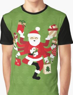 Dancing Shiva Claus - Spruce Forest Graphic T-Shirt