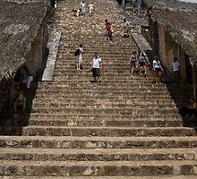 Ek' Balam - trek to the temple top? by Allen Lucas