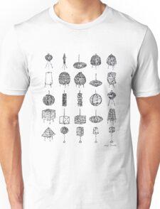 LINEart T-shirt: Paper Lamp 02 Unisex T-Shirt