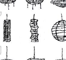 LINEart T-shirt: Paper Lamp 02 Sticker