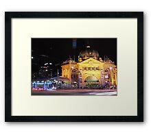 Flinders Street Eve Framed Print