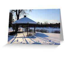 Sunset on Snow Greeting Card