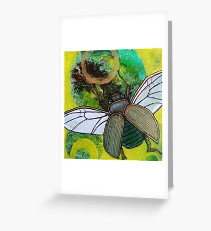 Sunflight (Gold Scarab) Greeting Card