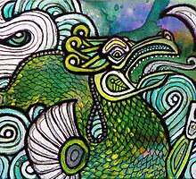 Green Sea Dragon II by Lynnette Shelley