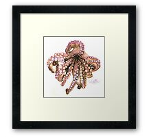 Watercolor Pencil Octopus Framed Print