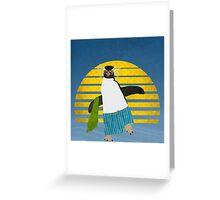 Northern Rockhopper Penguin on Spring Break Greeting Card