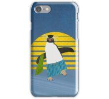 Northern Rockhopper Penguin on Spring Break iPhone Case/Skin