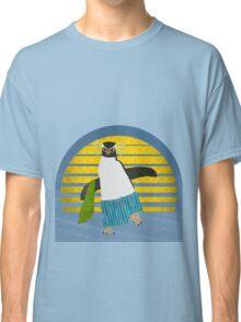 Northern Rockhopper Penguin on Spring Break Classic T-Shirt