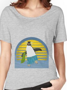 Northern Rockhopper Penguin on Spring Break Women's Relaxed Fit T-Shirt