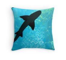 Shadow Shark Throw Pillow