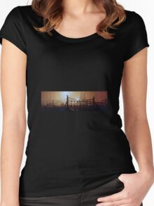 bates colliery night-time Women's Fitted Scoop T-Shirt
