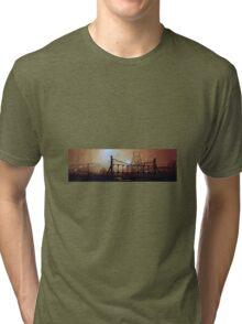bates colliery night-time Tri-blend T-Shirt