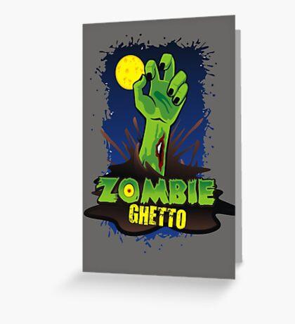 ZOMBIE GHETTO OFFICIAL LOGO DESIGN Greeting Card