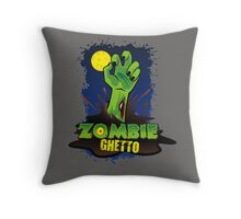 ZOMBIE GHETTO OFFICIAL LOGO DESIGN Throw Pillow