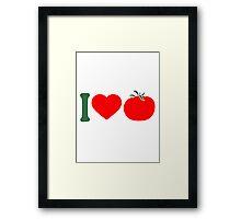 I love tomatoes vegetables logo Framed Print