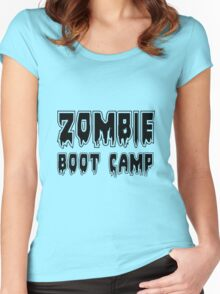 ZOMBIE BOOT CAMP by Zombie Ghetto Women's Fitted Scoop T-Shirt